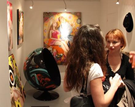 5 ème galerie Caroline Maurel et Edoz le graffeur